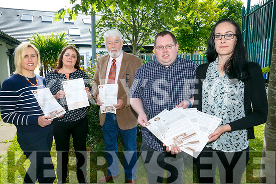 launching  the  St Brigid's Community Centre, Hawley Park newsletter on Tuesday were  l-r Dolores McElligott, Maureen O'Sullivan, Johnnie Wall, Paul Johnson and  Paula O'Sullivan