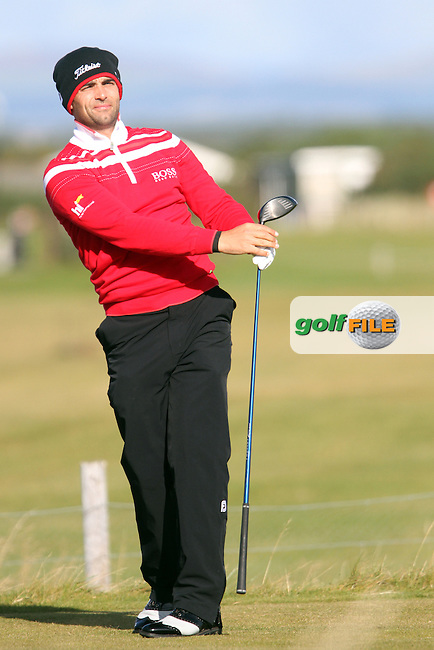 Lee Slattery (ENG) on Wednesday's Practise Day at the Alfred Dunhill Links Championship, Old Course St. Andrews, Carnoustie and Kingsbarns, Scotland...(Photo Jenny Matthews/www.golffile.ie)