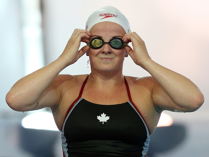 Rio de Janeiro-4/9/2016- Camille Berube during training prior to the Rio 2016 Paralympic Games at the Olympic Aquatics Stadium . Photo Scott Grant/Canadian Paralympic Committee