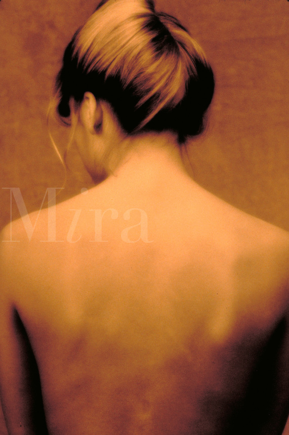 Portrait of a woman's back. Birmingham AL USA studio.