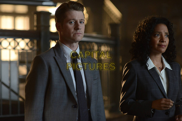 Gotham (2014 - ) <br /> (Season 2, Episode 2, &quot;Knock, Knock&quot;)<br /> Ben McKenzie and Zabryna Guevara<br /> *Filmstill - Editorial Use Only*<br /> CAP/KFS<br /> Image supplied by Capital Pictures
