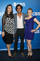 Mayim Bialik, Kunal Nayyar and Melissa Rauch at the 2012 CBS Upfront at The Tent at Lincoln Center on May 16, 2012 in New York City. © RW/MediaPunch Inc.