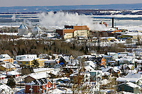 The AbitibiBowater pulp and paper mill in Beaupré, 30km east of Quebec City.