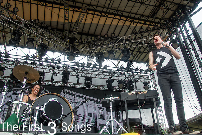 Kim Schifino and Matt Johnson of Matt & Kim perform during Day 3 of the 2013 Firefly Music Festival in Dover, Delaware.