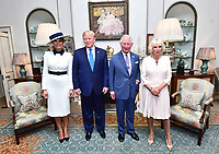 Donald and Melania Trump Take Tea at Clarence House - President Trump State Visit to London