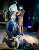 Whisper House <br /> by Duncan Sheik<br /> at The Other Place, Westminster, London, Great Britain <br /> Press photocall <br /> 13th April 2017 <br /> <br /> <br /> Nicholas Goh as Yashujiro.<br /> <br /> Simon Lipkin as Sheriff<br /> <br /> <br /> <br /> Dianne Pilkington as Lily<br /> <br /> Stanley Jarvis as  Christopher<br /> <br /> Photograph by Elliott Franks <br /> Image licensed to Elliott Franks Photography Services