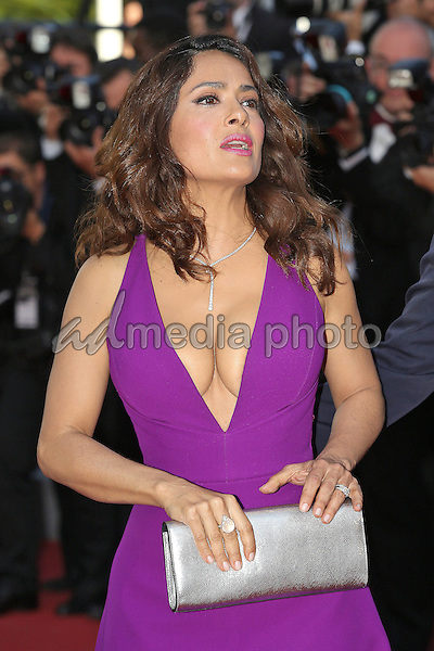 "17 May 2015 - Cannes, France - Salma Hayek. ""Carol"" Premiere during The 68th Annual Cannes Film Festival. Photo Credit: Andre Mischke/face to face/AdMedia"