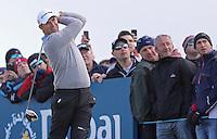 Friday 29th May 2015; Padraig Harrington, Ireland, tees off at the 8th<br /> <br /> Dubai Duty Free Irish Open Golf Championship 2015, Round 2 County Down Golf Club, Co. Down. Picture credit: John Dickson / SPORTSFILE