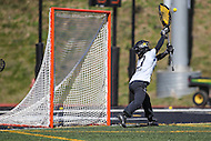 Towson, MD - March 5, 2017: Towson Tigers Angie Benson (77) makes a save during game between Towson and Florida at  Minnegan Field at Johnny Unitas Stadium  in Towson, MD. March 5, 2017.  (Photo by Elliott Brown/Media Images International)