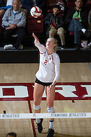 STANFORD, CA - October 14, 2016: Kathryn Plummer at Maples Pavilion. The Arizona Wildcats defeated the Cardinal 3-1.