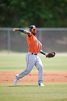 Houston Astros Jonathan Arauz (10) during a Minor League Spring Training game against the St. Louis Cardinals on March 27, 2018 at the Roger Dean Stadium Complex in Jupiter, Florida.  (Mike Janes/Four Seam Images)