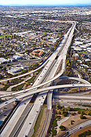 Aerial Photograph of 73 Toll Road Transportation Corridor and the 55 Freeway