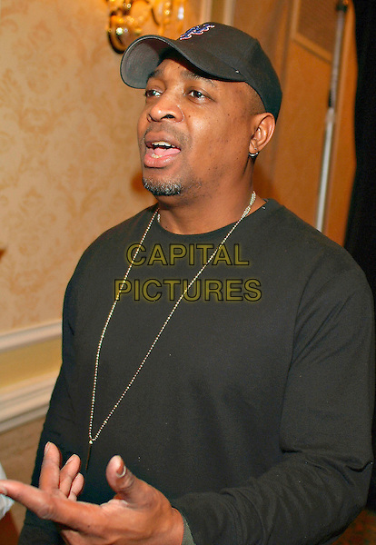 PUBLIC ENEMY'S CHUCK D.Public Enemy's Chuck D in town for the Hip-Hop legends 20th Anniversary Tour and is a Keynote Speaker at the Rogers Wireless Canadian Music Week Conference at the Fairmont Royal York Hotel, Toronto, Ontario, Canada,.10 March 2007..portrait headshot black top cap hat .CAP/ADM/BP.©Brent Perniac/AdMedia/Capital Pictures.