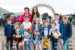 The Glenbeigh youngsters who entered the Best Dressed Kids competition at Glenbeigh Races with Festival President, Mary Riordan & Festival Queen, Erica Costello.