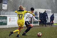 Emily Allen Oxford United Ladies and 'Ashleigh Neville of Tottenham Ladies during Tottenham Hotspur Ladies vs Oxford United Women, FA Women's Super League FA WSL2 Football at Theobalds Lane on 11th February 2018