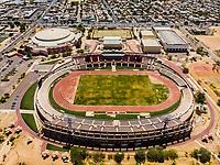 Vista aerea de Complejo deportivo de la Comisi&oacute;n Estatal de Deporte, CODESON en Hermosillo, Sonora....<br /> Estadio H&eacute;roe de Nacozari. <br /> CUM. Centro de Usos Multiples.<br /> Pista de Atletismo <br /> <br /> Photo: (NortePhoto / LuisGutierrez)<br /> <br /> ...<br /> keywords: