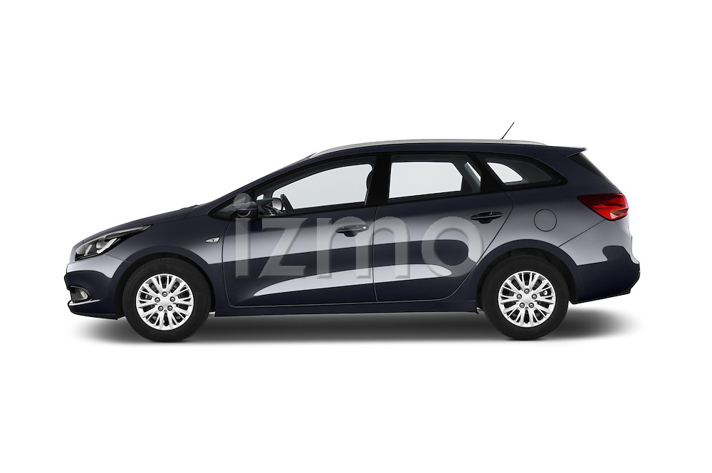 Car Driver side profile view of a 2014 KIA cee'd Access 5 Door Wagon 2WD Side View