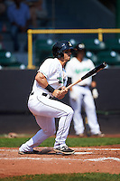 Clinton LumberKings outfielder Austin Cousino (26) at bat during a game against the Great Lakes Loons on August 16, 2015 at Ashford University Field in Clinton, Iowa.  Great Lakes defeated Clinton 3-2.  (Mike Janes/Four Seam Images)