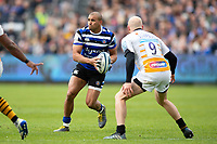 Jonathan Joseph of Bath Rugby in possession. Gallagher Premiership match, between Bath Rugby and Wasps on May 5, 2019 at the Recreation Ground in Bath, England. Photo by: Patrick Khachfe / Onside Images