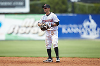 Kannapolis Intimidators second baseman Nick Madrigal (10) on defense against the Hagerstown Suns at Kannapolis Intimidators Stadium on July 17, 2018 in Kannapolis, North Carolina. The Intimidators defeated the Suns 10-9. (Brian Westerholt/Four Seam Images)
