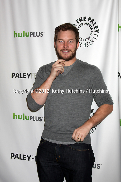 """LOS ANGELES - MAR 6:  Chris Pratt arrives at the """"Parks and Recreation"""" Panel at PaleyFest 2012 at the Saban Theater on March 6, 2012 in Los Angeles, CA"""