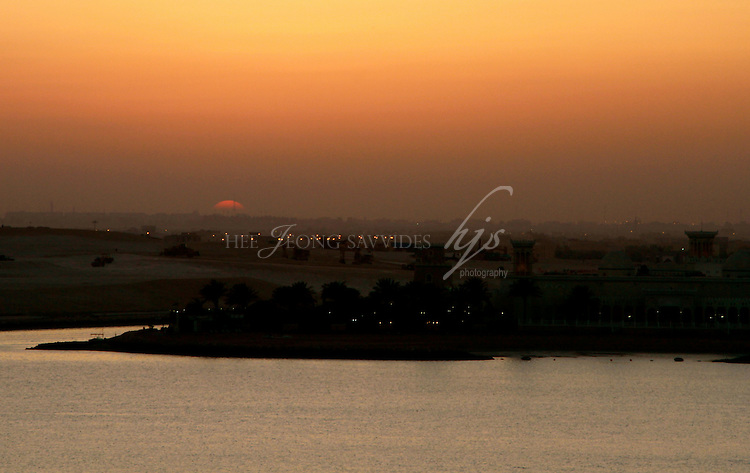 Sunset view of Doha from the Pearl, Doha, Qatar | Mar 10