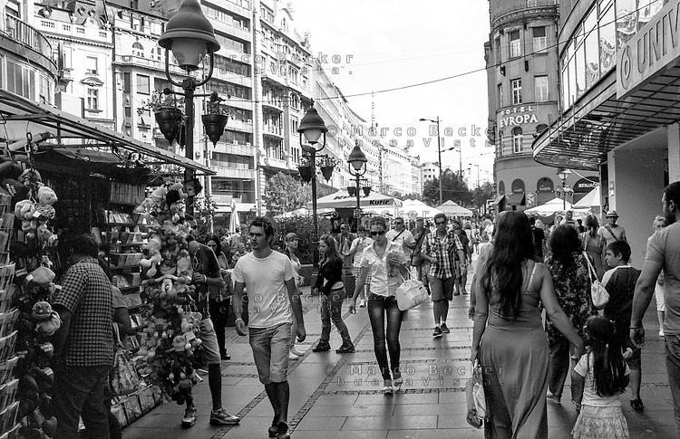 Belgrado, quartiere Terazije, centro città --- Belgrade, Terazije district, downtown