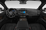 Stock photo of straight dashboard view of a 2019 Ford Expedition Limited 5 Door SUV