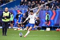 9th February 20020, Stade de France, Paris, France; 6-Nations international mens rugby union, France versus Italy; Conversion kick from Romain Ntamack  10 France