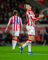 11th January 2020; Bet365 Stadium, Stoke, Staffordshire, England; English Championship Football, Stoke City versus Milwall FC; A frustrated James McClean of Stoke City after a shot goes wide - Strictly Editorial Use Only. No use with unauthorized audio, video, data, fixture lists, club/league logos or 'live' services. Online in-match use limited to 120 images, no video emulation. No use in betting, games or single club/league/player publications