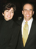 """Jeffrey Katzenberg and his wife, Marilyn, arrive at the Warner Theatre for the Washington, D.C. Premiere of """"Amistad"""" on December 4, 1997..Credit: Ron Sachs / CNP"""