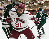 Jake Horton (Harvard - 91) - The Harvard University Crimson defeated the Dartmouth College Big Green 5-2 to sweep their weekend series on Sunday, November 1, 2015, at Bright-Landry Hockey Center in Boston, Massachusetts. -