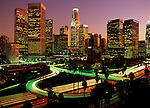 Downtown Los Angeles Skyline and Freeways