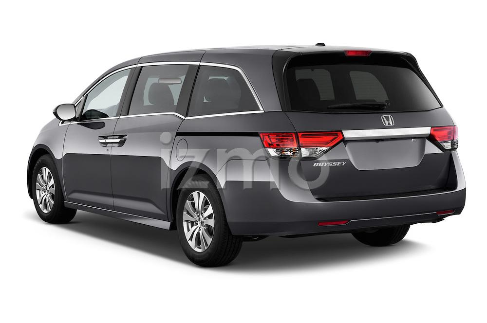 Rear three quarter view of a 2014 Honda Odyssey EX-L