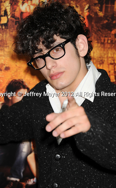 HOLLYWOOD, CA - OCTOBER 25: Matt Bennett arrives at the Los Angeles premiere of 'Fun Size' at Paramount Studios on October 25, 2012 in Hollywood, California.