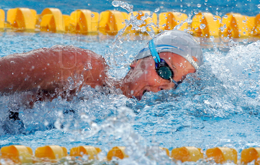 Italy's Federica Pellegrini swims on her way to set the new world record clocking 3.59.15 during the women's 400 meters freestyle at the Swimming World Championships in Rome, 26 July 2009..UPDATE IMAGES PRESS/Riccardo De Luca