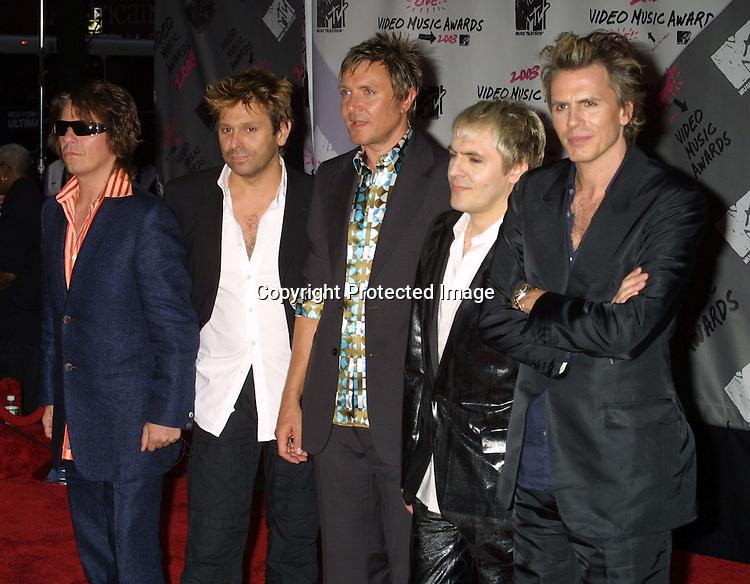©2003 ARIEL RAMEREZ / HUTCHINS PHOTO.MTV MUSIC VIDEO AWARDS.RADIO CITY MUSIC HALL.AUGUST 28, 2003.NEW YORK, NY, USA.DURAN DURAN