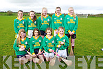 Allianz Cumann na mBunscol Hurling Finals at Abbeydorney GAA on Monday.Pictured Kilmoyley NS - Front l-r Jessica O'Sullivan, Ellen Cook, Kelly Neenah, Dervla Jeffers,Back l-r  Brid Horan, Sarah Walsh, Ciara Casey, Aoife Godley, Saoirse Sheehy
