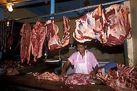Meat market, Santo Domingo, Dominican Republic