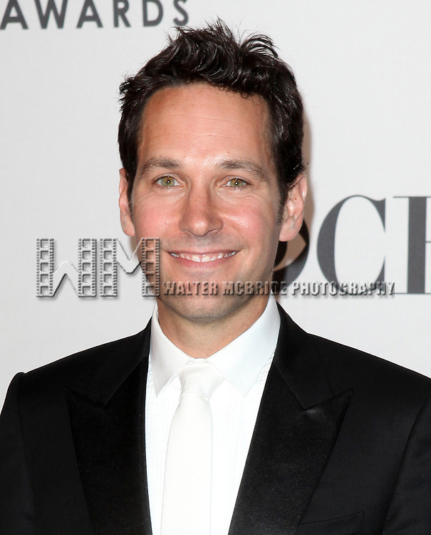 Paul Rudd pictured at the 66th Annual Tony Awards held at The Beacon Theatre in New York City , New York on June 10, 2012. © Walter McBride / WM Photography