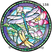 Randy, STILL LIFE STILLLEBEN, NATURALEZA MORTA, paintings+++++SG-Dragonflies-and-Water-Lilies,USRW158,#i# stained glass