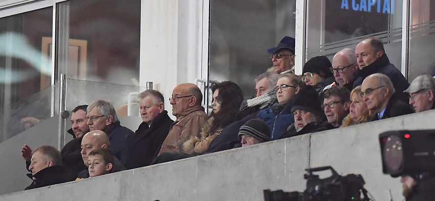 Club owner Owen Oyston watches from the stand<br /> <br /> Photographer Dave Howarth/CameraSport<br /> <br /> The Emirates FA Cup Second Round Replay - Blackpool v Solihull Moors - Tuesday 18th December 2018 - Bloomfield Road - Blackpool<br />  <br /> World Copyright © 2018 CameraSport. All rights reserved. 43 Linden Ave. Countesthorpe. Leicester. England. LE8 5PG - Tel: +44 (0) 116 277 4147 - admin@camerasport.com - www.camerasport.com