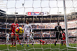 Cristiano Ronaldo of Real Madrid and Guido Hernan Pizarro of Sevilla FC look to each other during the La Liga 2017-18 match between Real Madrid and Sevilla FC at Santiago Bernabeu Stadium on 09 December 2017 in Madrid, Spain. Photo by Diego Souto / Power Sport Images