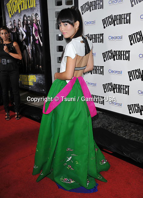 Hana Mae Lee  at  The Pitch Perfect Premiere at the Arclight Theatre In Los Angeles.