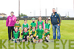 BLITZ: The lixnaw under 8 who played in the under 8s hurling blitz at Causeway Hurling grounds on Saturday morning. Front Amy Flaherty, Emma Conway, Colin O'Brien./Rory O'Connor and Ruaraí McCarthy. Back l-r: Leslie Mckenna (Coach), Morgan McCarthy, Emma O'Sullivan, Grainne Walsh,Grainne Shanahan, Isabella Bright and Kenneth O'Sullivan (coach).