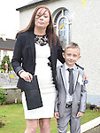 Patrick Doyle who received his first holy communion at St Joseph's Church Mell pictured mam Jennifer. Photo:Colin Bell/pressphotos.ie