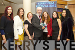 Pictured at the launch of the Kerry Film Festival on Tuesday evening at Siamsa Tire, Tralee, were l-r: Evija Andriksone, Marie Edwards, Majella Starett, Johnny Wall (Mayor of Tralee) Sarah Smith (festival director) Roisin McGuigan (chairperson) and Mona Sidi..