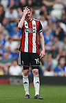 Richard Stearman of Sheffield Utd dejected during the championship match at St Andrews Stadium, Birmingham. Picture date 21st April 2018. Picture credit should read: Simon Bellis/Sportimage