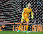 Joe Hart of Manchester City shouts on his goal line - Barclays Premier League - Stoke City vs Manchester City - Britannia Stadium - Stoke on Trent - England - 11th February 2015 - Picture Simon Bellis/Sportimage