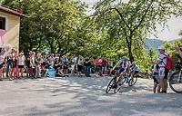Laurens De Plus (BEL/QuickStep Floors) up the Foza climb (1086m)<br /> <br /> Stage 20: Pordenone › Asiago (190km)<br /> 100th Giro d'Italia 2017